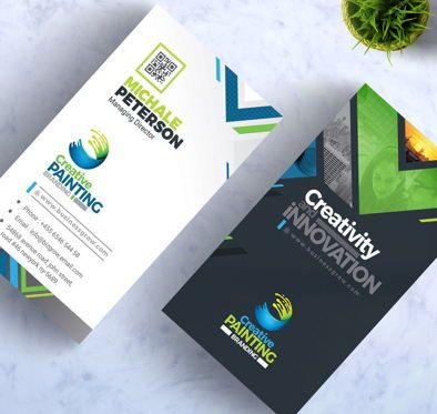 Business: CreativePaiting - Modern Business Card Design Template #09007