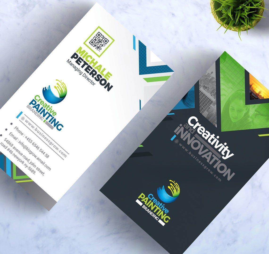 CreativePaiting - Modern Business Card Design Template, 09007, Business — PoweredTemplate.com