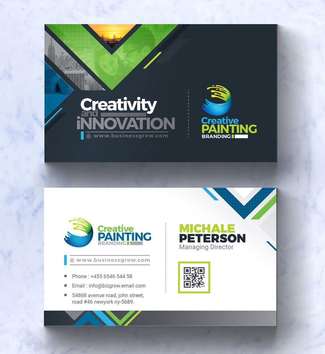 CreativePaiting - Modern Business Card Design Template, Slide 2, 09007, Business — PoweredTemplate.com