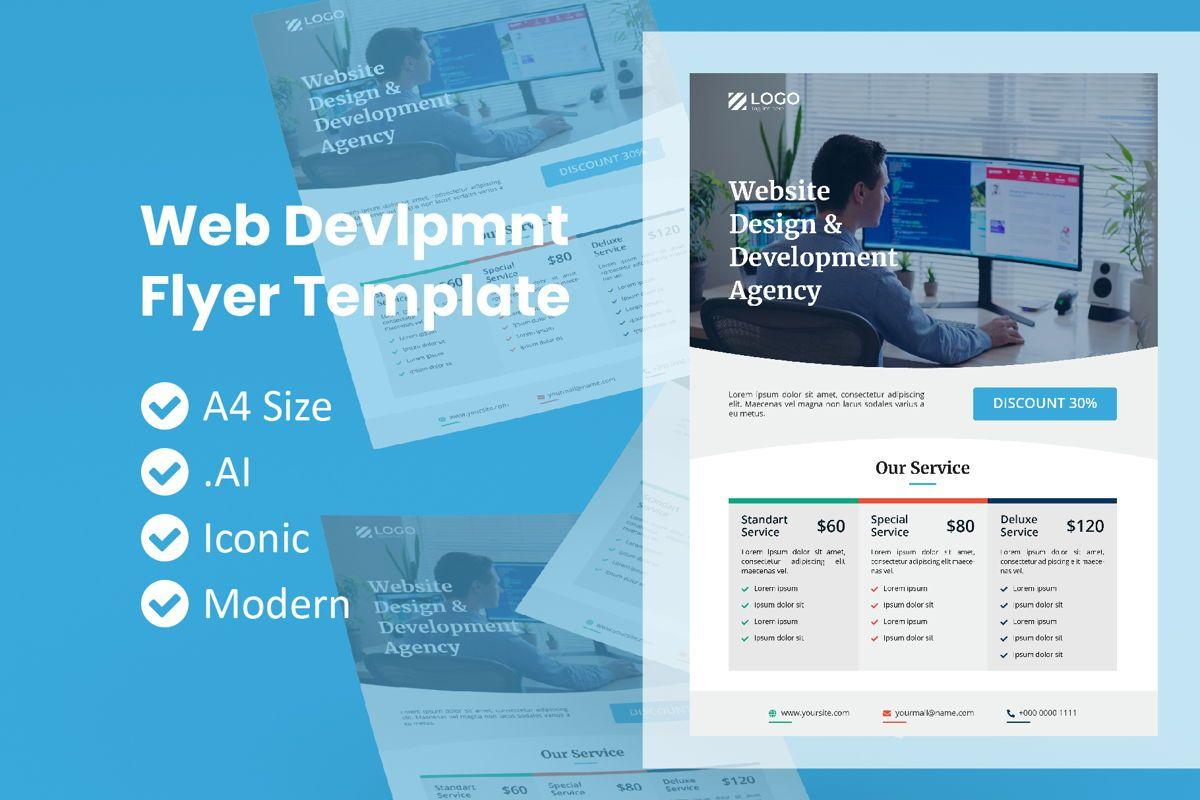 Web Development Service Flyer, 09008, Technology, Science & Computers — PoweredTemplate.com
