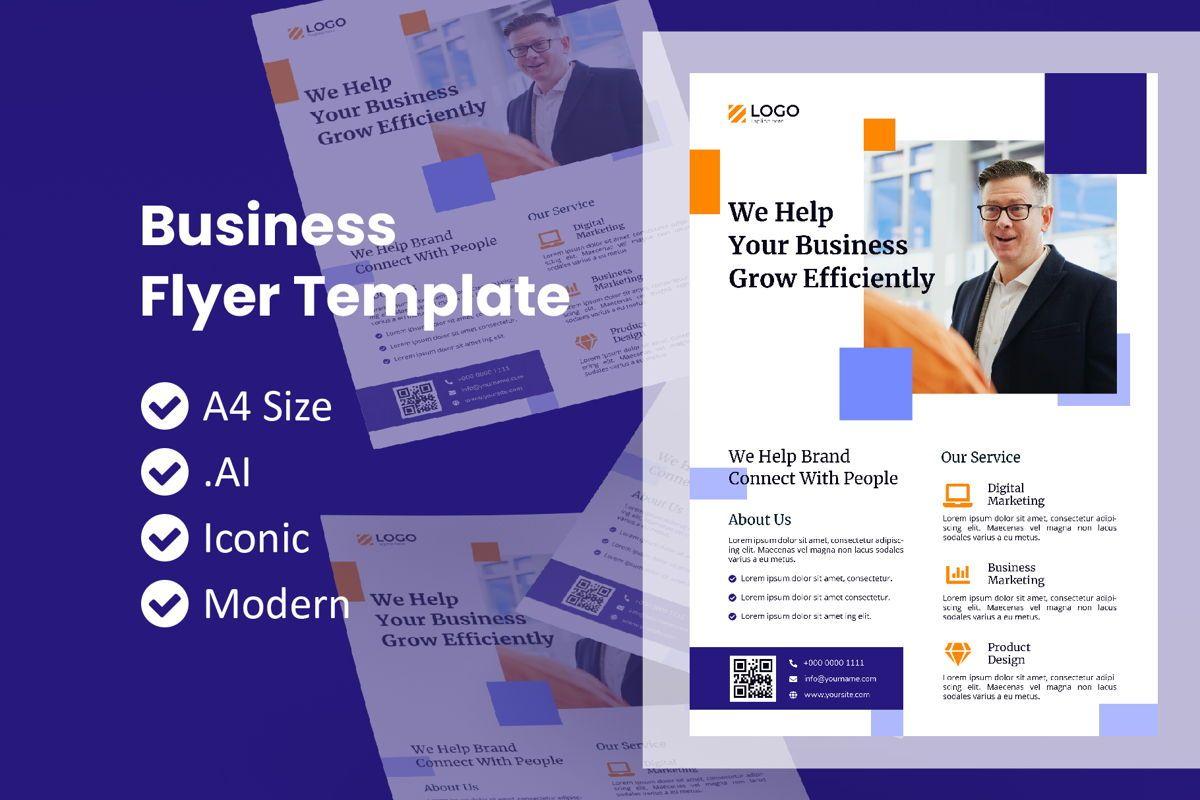 Business Service Flyer Template, 09009, Business — PoweredTemplate.com