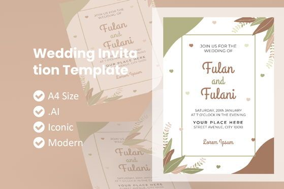Religious/Spiritual: Wedding Invitation Template #09011