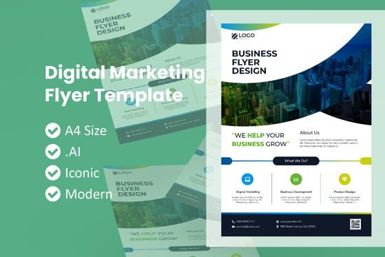 Business: Digital Marketing Business Flyer #09013