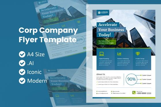 Business: Corporate Company Business Flyer #09017