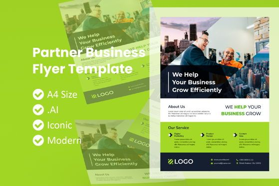 Business: Partner Business Flyer Template #09019