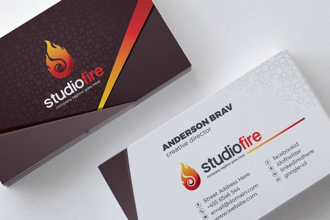 StudioFire - Business Card Template, 09021, Business — PoweredTemplate.com