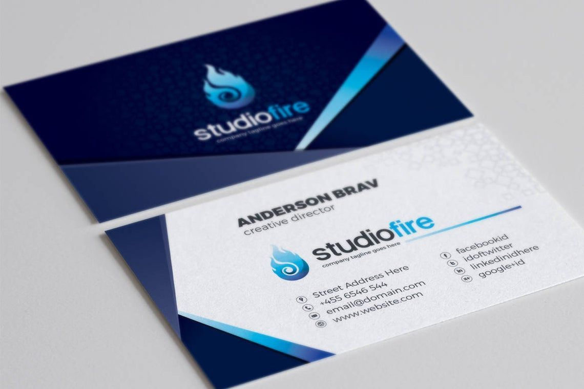 StudioFire - Business Card Template, Slide 3, 09021, Business — PoweredTemplate.com