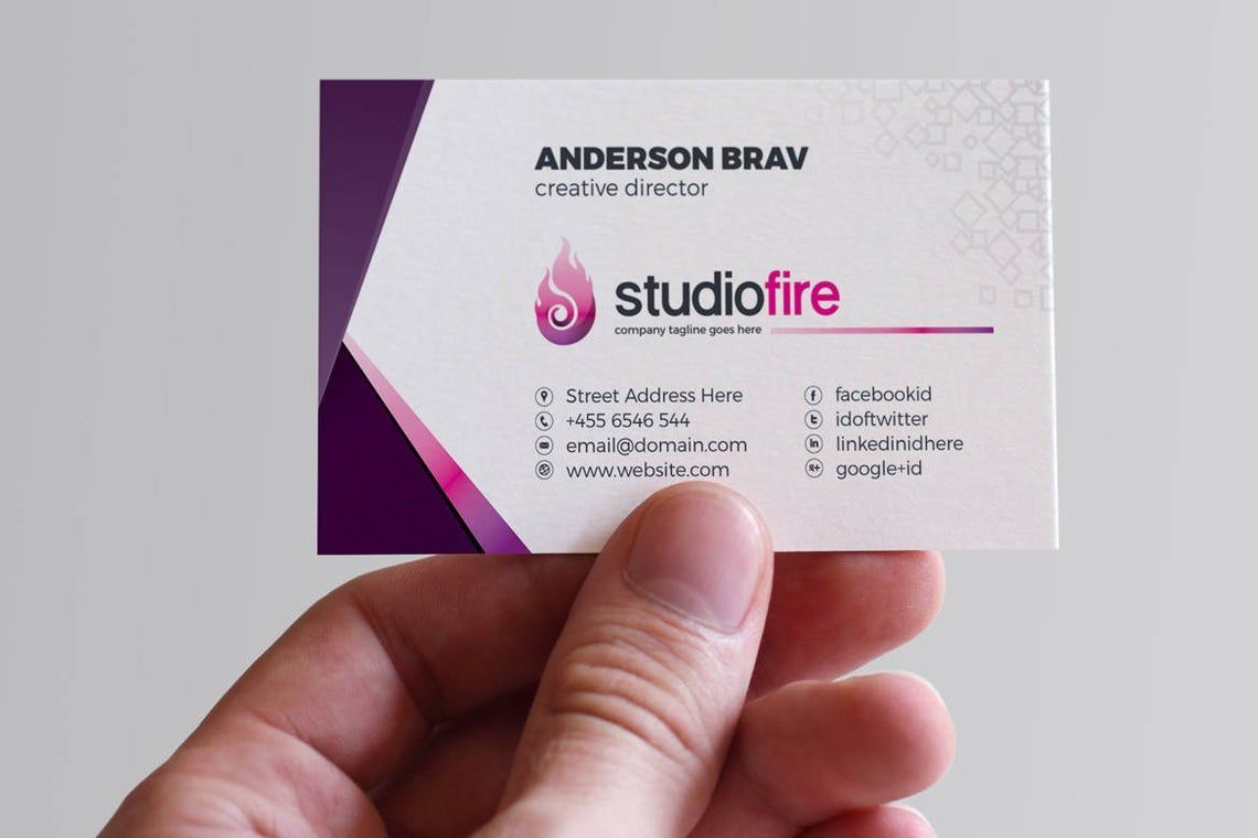 StudioFire - Business Card Template, Slide 5, 09021, Business — PoweredTemplate.com
