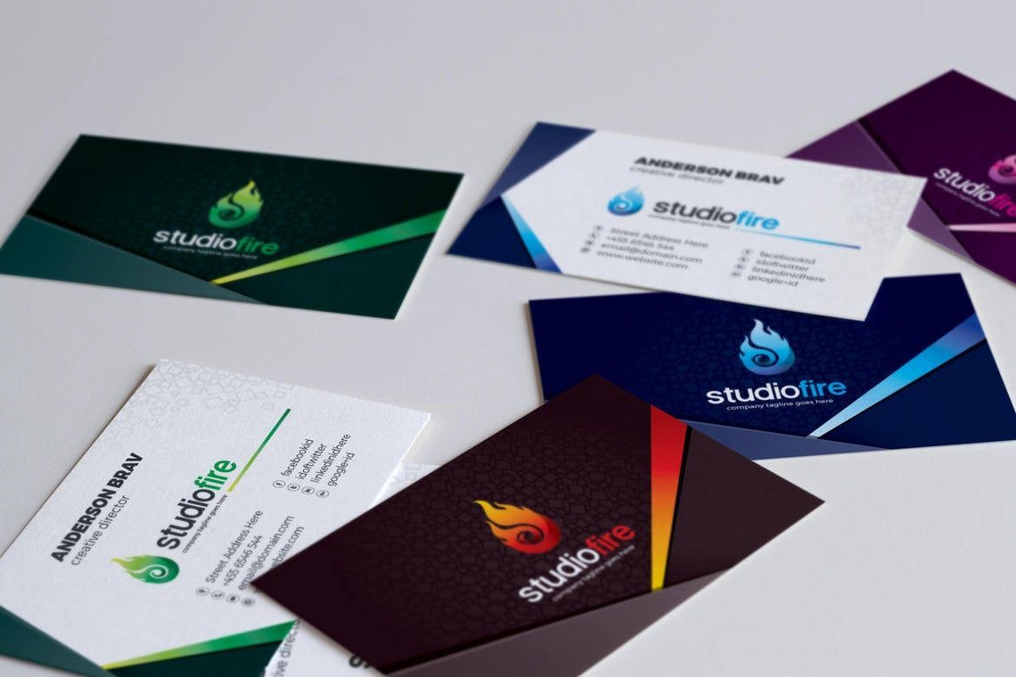 StudioFire - Business Card Template, Slide 6, 09021, Business — PoweredTemplate.com