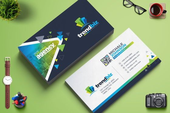 Careers/Industry: TrendBiz - Modern Business Card Template #09022