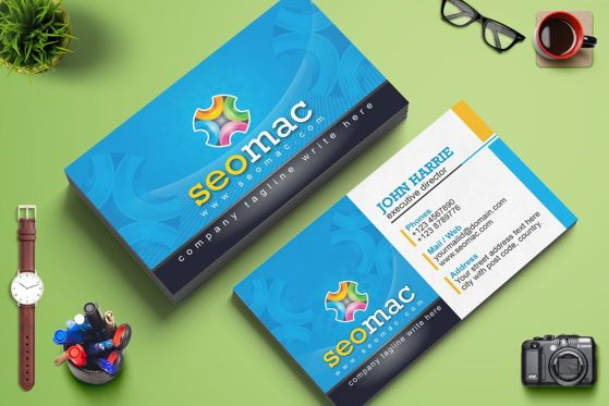 Careers/Industry: SeoMac - Business Card Template #09024