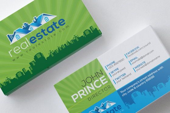 Careers/Industry: RealEstate - Real Estate Business Card Template #09025