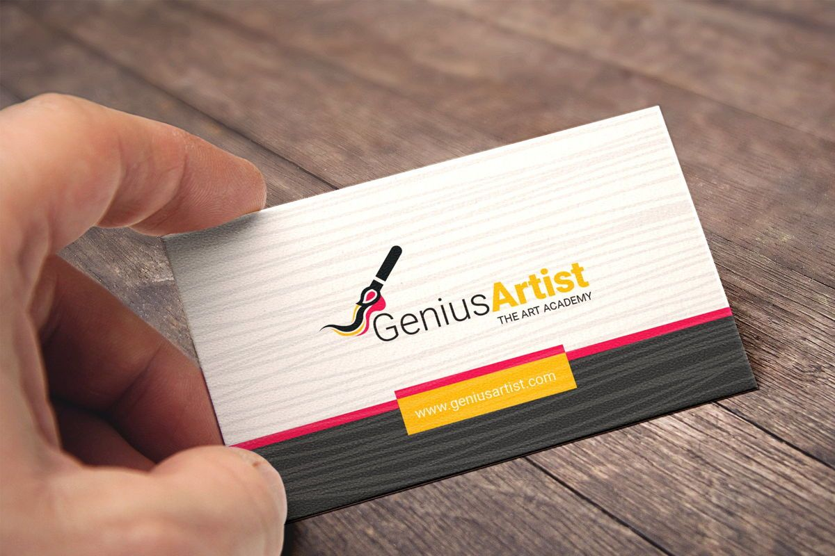 Genius Artist Business Card Template, 09031, Art & Entertainment — PoweredTemplate.com