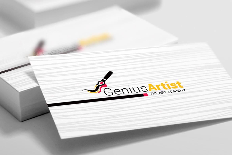 Genius Artist Business Card Template, Slide 2, 09031, Art & Entertainment — PoweredTemplate.com