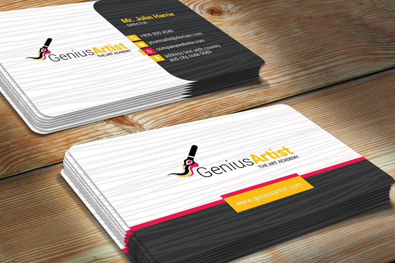 Genius Artist Business Card Template, Slide 3, 09031, Art & Entertainment — PoweredTemplate.com