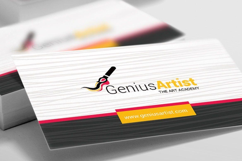 Genius Artist Business Card Template, Slide 4, 09031, Art & Entertainment — PoweredTemplate.com