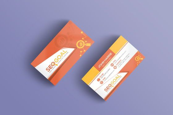 Careers/Industry: SEO Goal Business Card Template #09032
