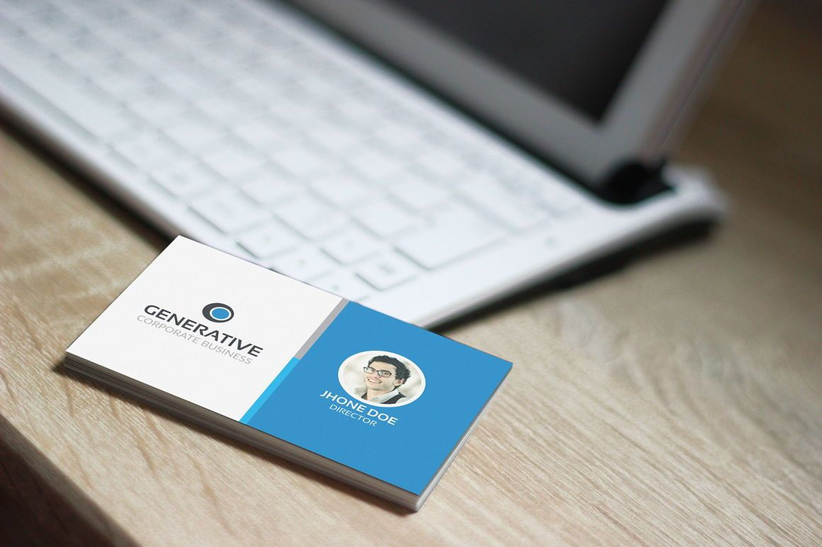 Generative - Multipurpose Business Card Template, Slide 4, 09034, Business — PoweredTemplate.com