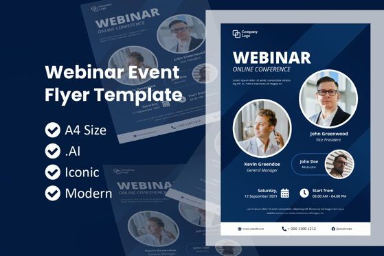 Business: Webinar Event Flyer Brochure Template #09039