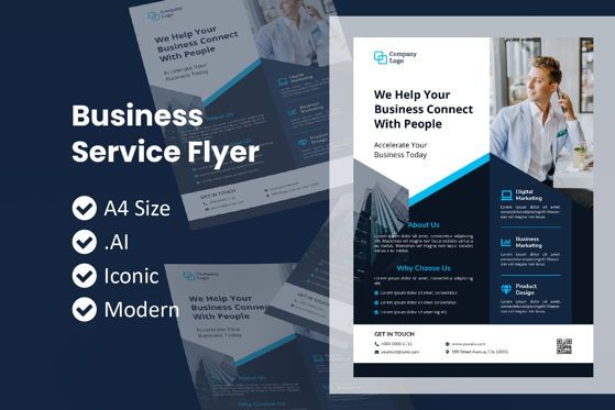 Business: Business Brochure Flyer Template #09040