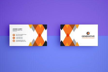 Business: Corporative Business Card Template #09044