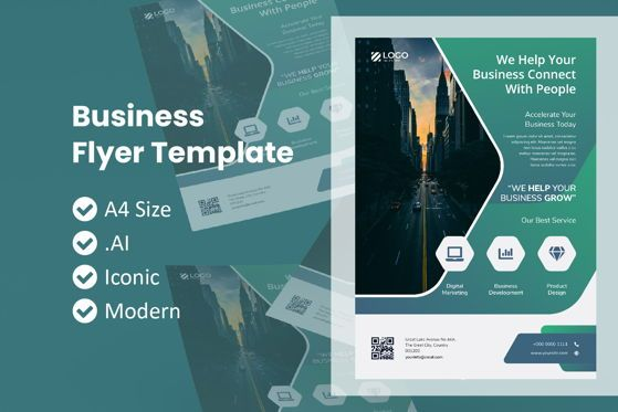 Business: Business Theme Flyer Brochure Template #09052