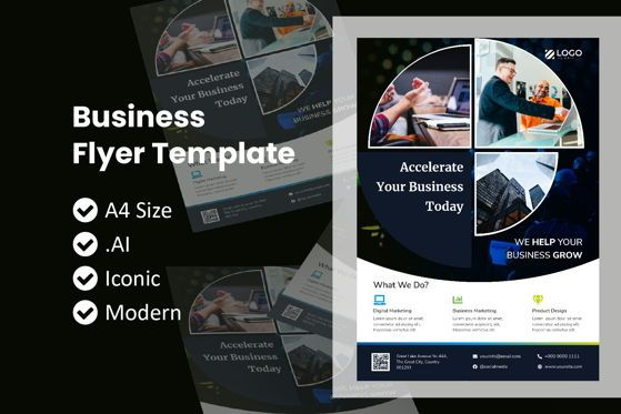 Business: Business Circle Flyer Brochure Template #09053