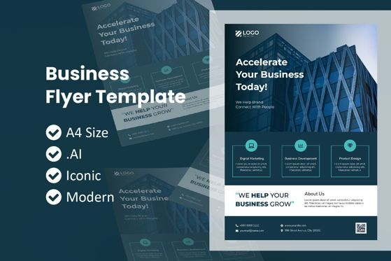 Business: Business Metro Flyer Brochure Template #09054