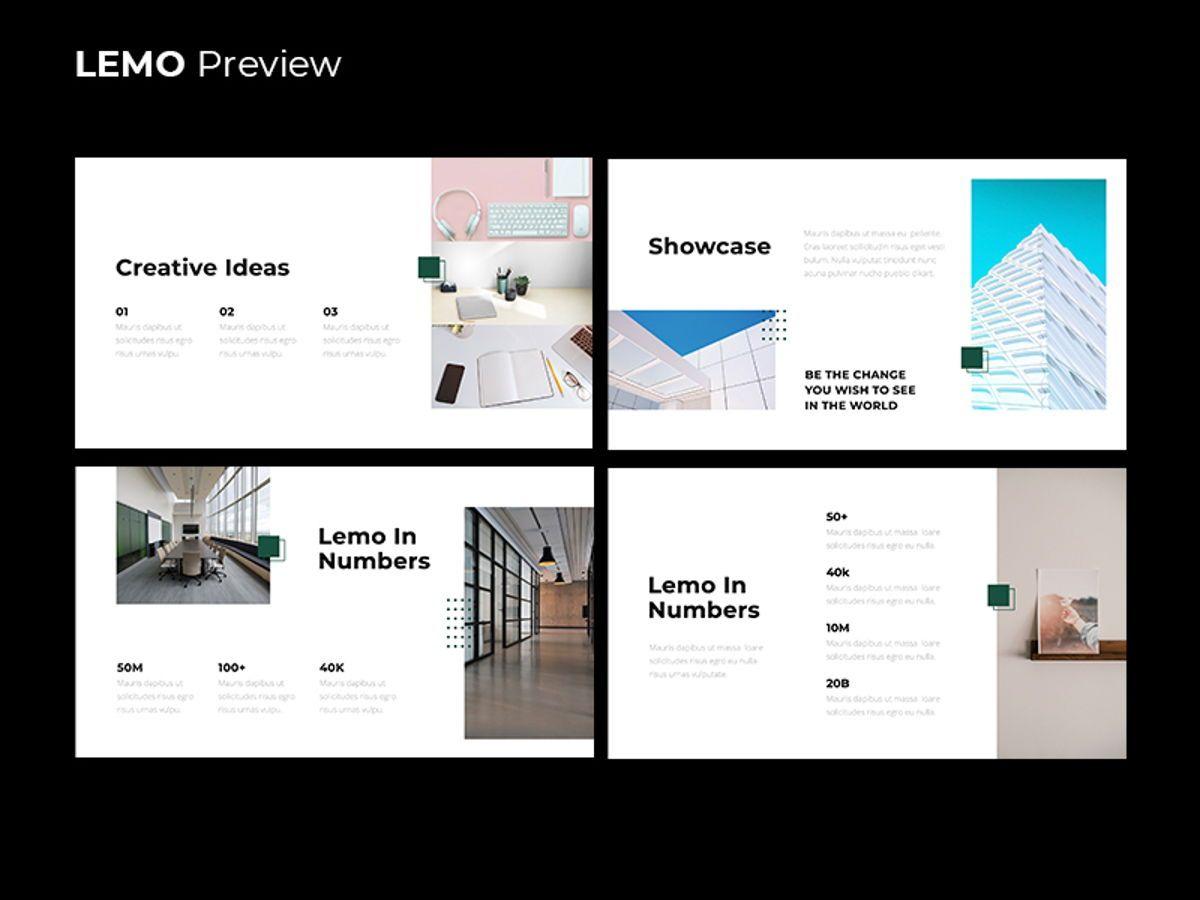 LEMO Minimal Googles slide Template, Slide 12, 08780, Business — PoweredTemplate.com