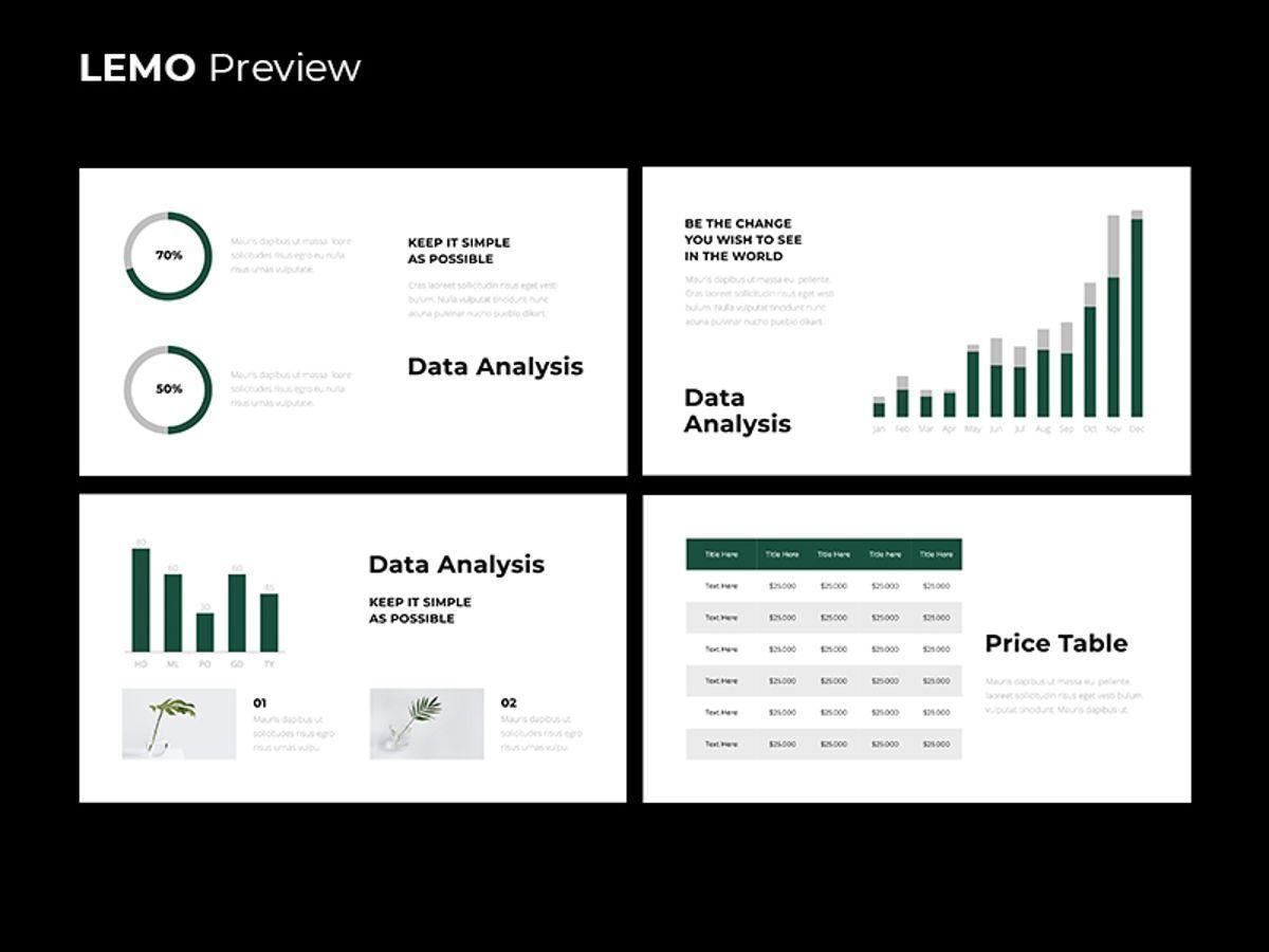 LEMO Minimal Googles slide Template, Slide 13, 08780, Business — PoweredTemplate.com