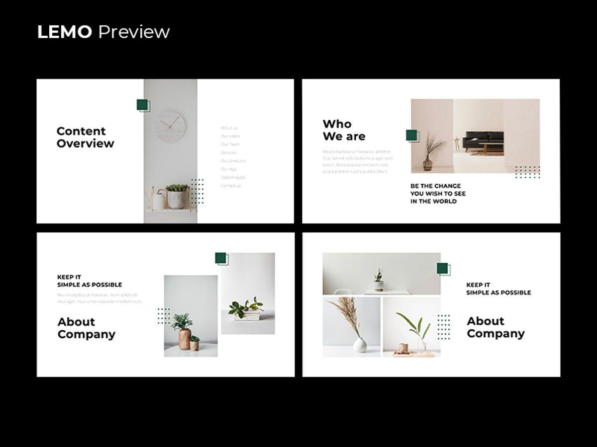 LEMO Minimal Googles slide Template, Slide 3, 08780, Business — PoweredTemplate.com