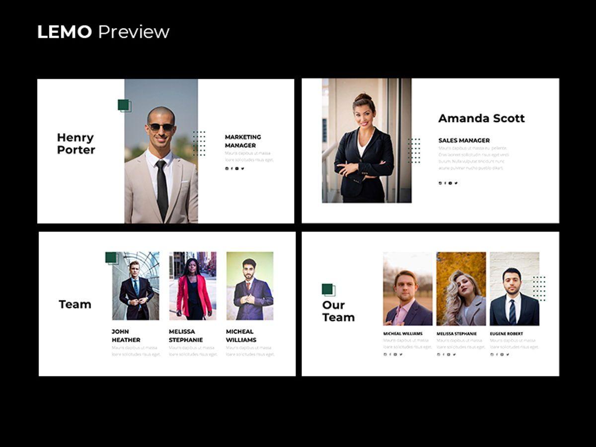 LEMO Minimal Googles slide Template, Slide 5, 08780, Business — PoweredTemplate.com