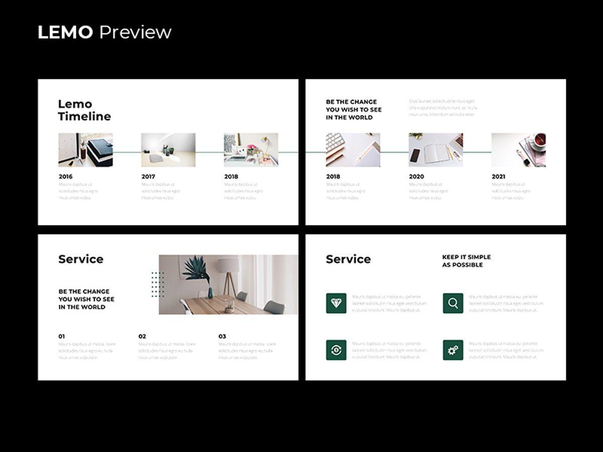 LEMO Minimal Googles slide Template, Slide 6, 08780, Business — PoweredTemplate.com