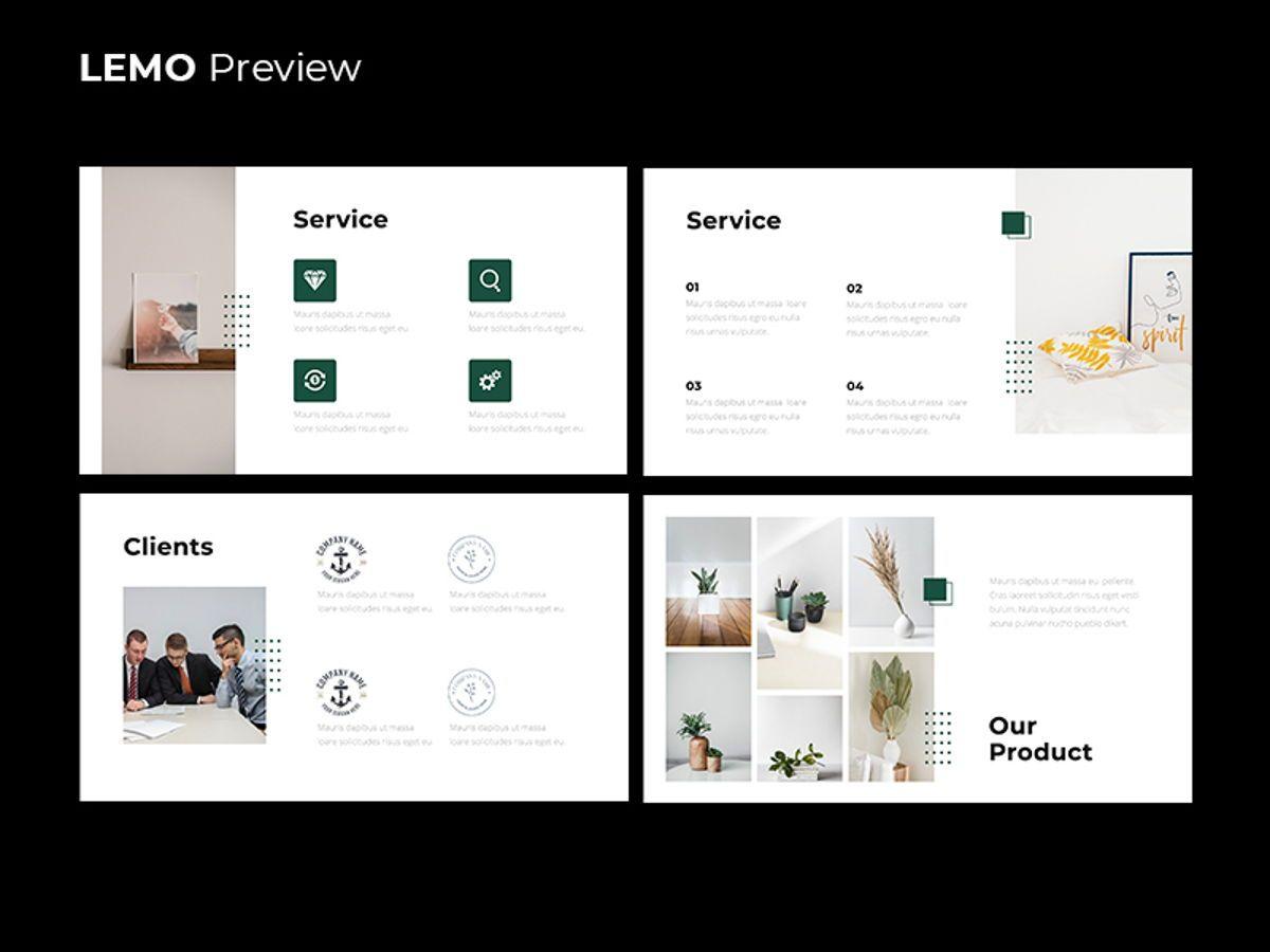 LEMO Minimal Googles slide Template, Slide 7, 08780, Business — PoweredTemplate.com
