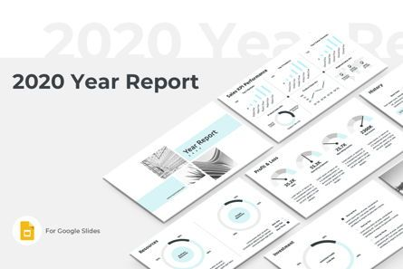 Business: 2020 Year Report Google Slides Presentation Template #08781