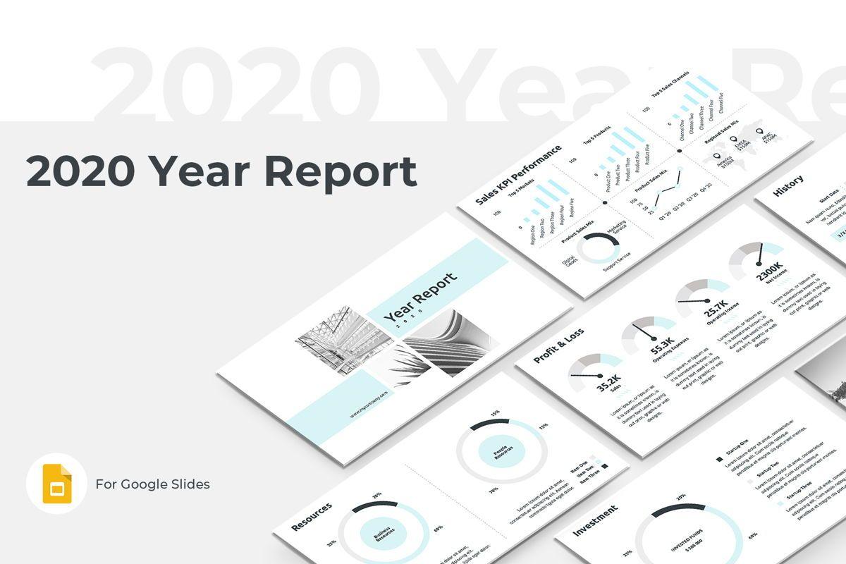 2020 Year Report Google Slides Presentation Template, 08781, Business — PoweredTemplate.com