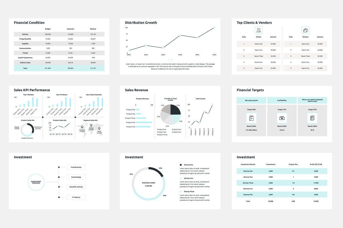 2020 Year Report Google Slides Presentation Template, Slide 4, 08781, Business — PoweredTemplate.com