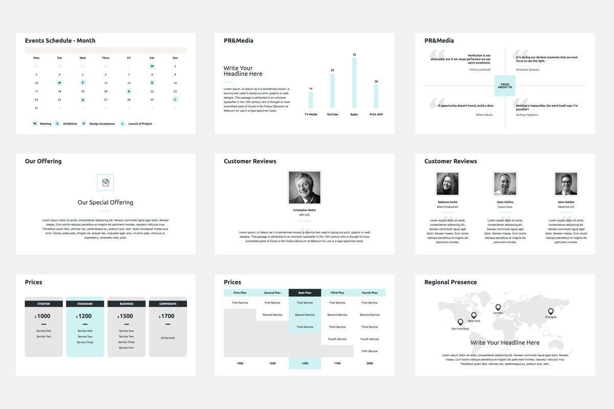 2020 Year Report Google Slides Presentation Template, Slide 7, 08781, Business — PoweredTemplate.com