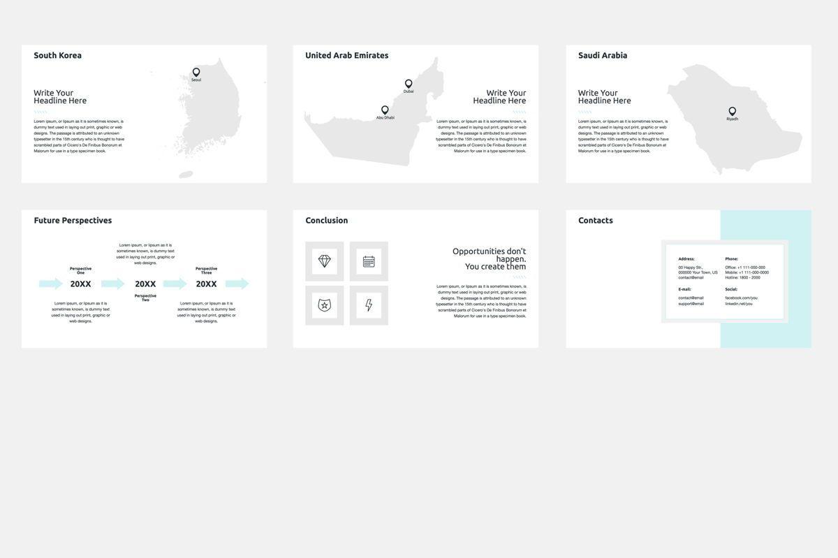 2020 Year Report Google Slides Presentation Template, Slide 9, 08781, Business — PoweredTemplate.com