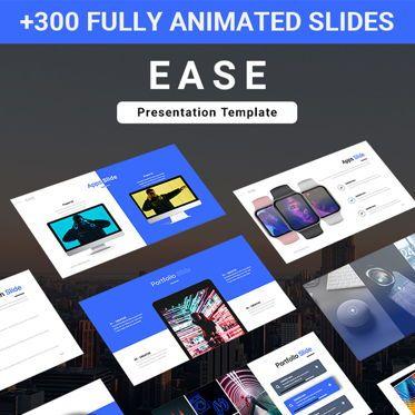 Business: EASE Animated Multipurpose Keynote Presentation Template Blue Version #08782