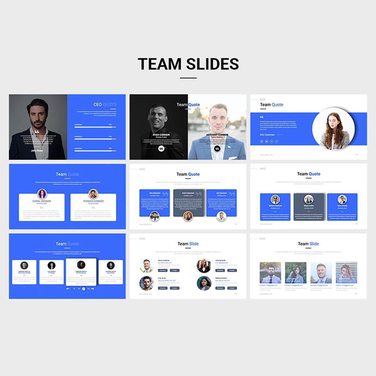 EASE Animated Multipurpose Keynote Presentation Template Blue Version, Slide 6, 08782, Business — PoweredTemplate.com