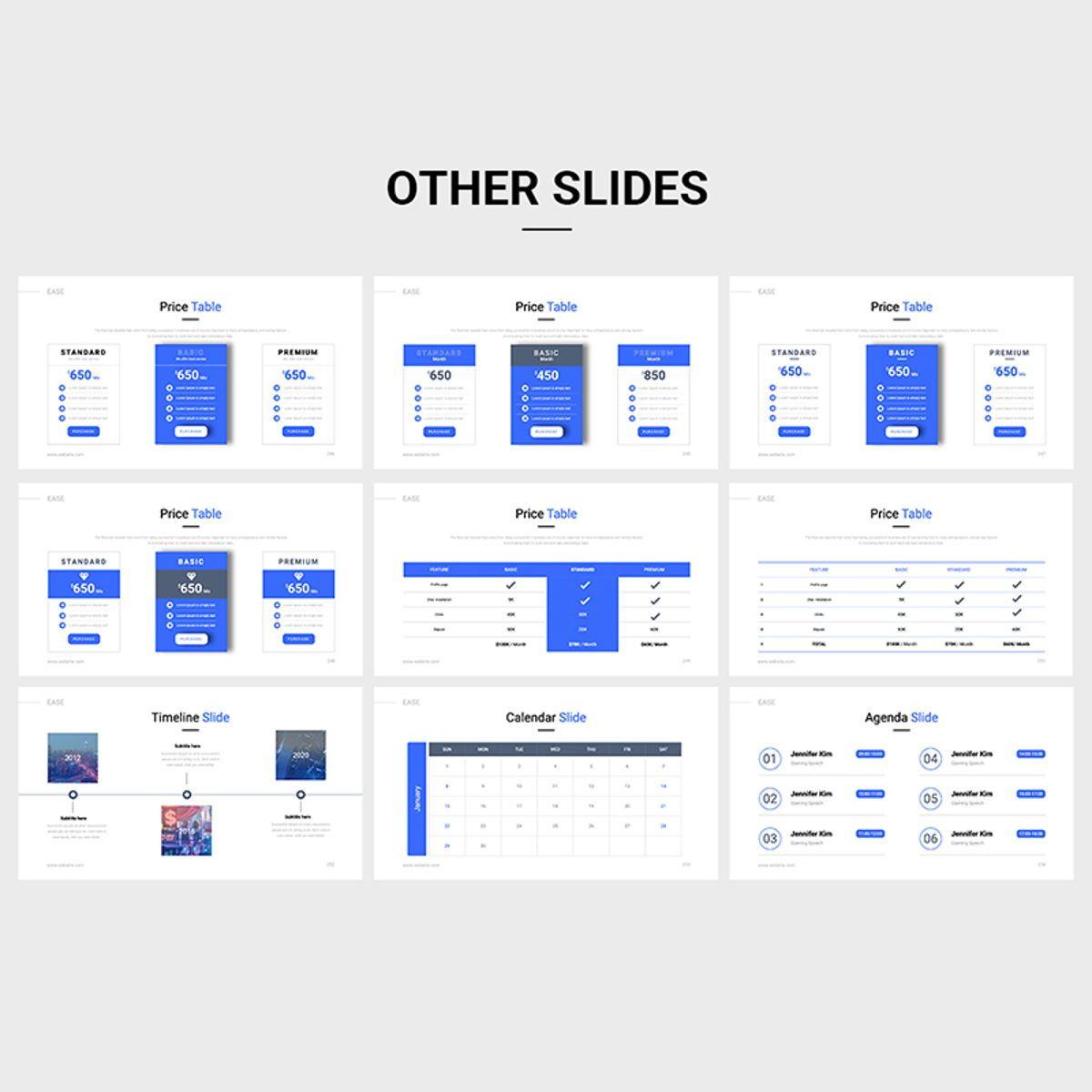 EASE Animated Multipurpose Keynote Presentation Template Blue Version, Slide 9, 08782, Business — PoweredTemplate.com