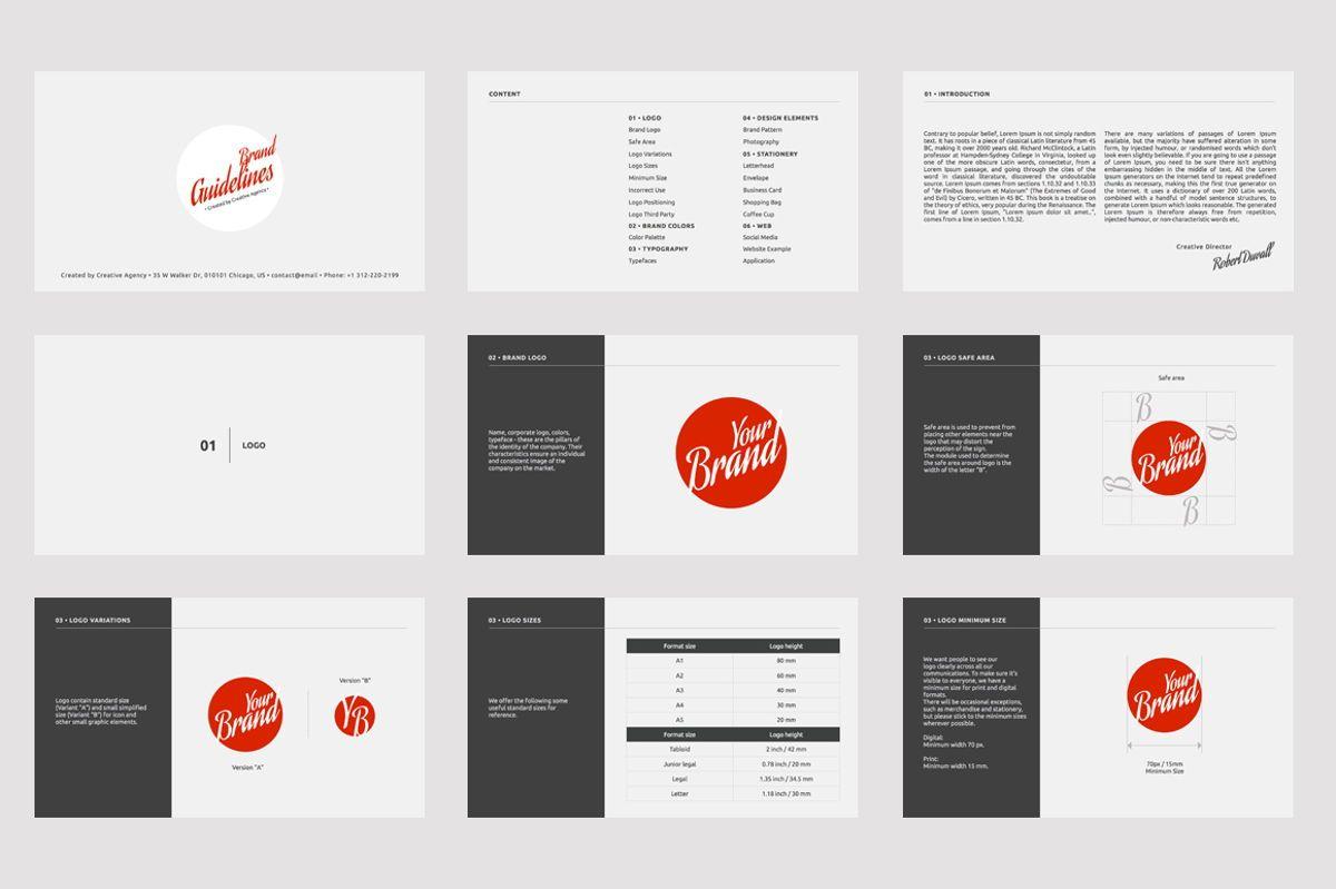 Brand Guidelines Google Slides Presentation Template, Slide 2, 08783, Business — PoweredTemplate.com