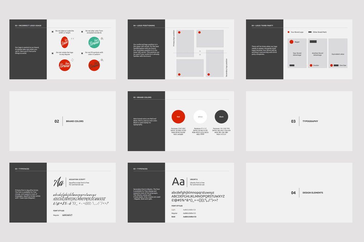 Brand Guidelines Google Slides Presentation Template, Slide 3, 08783, Business — PoweredTemplate.com