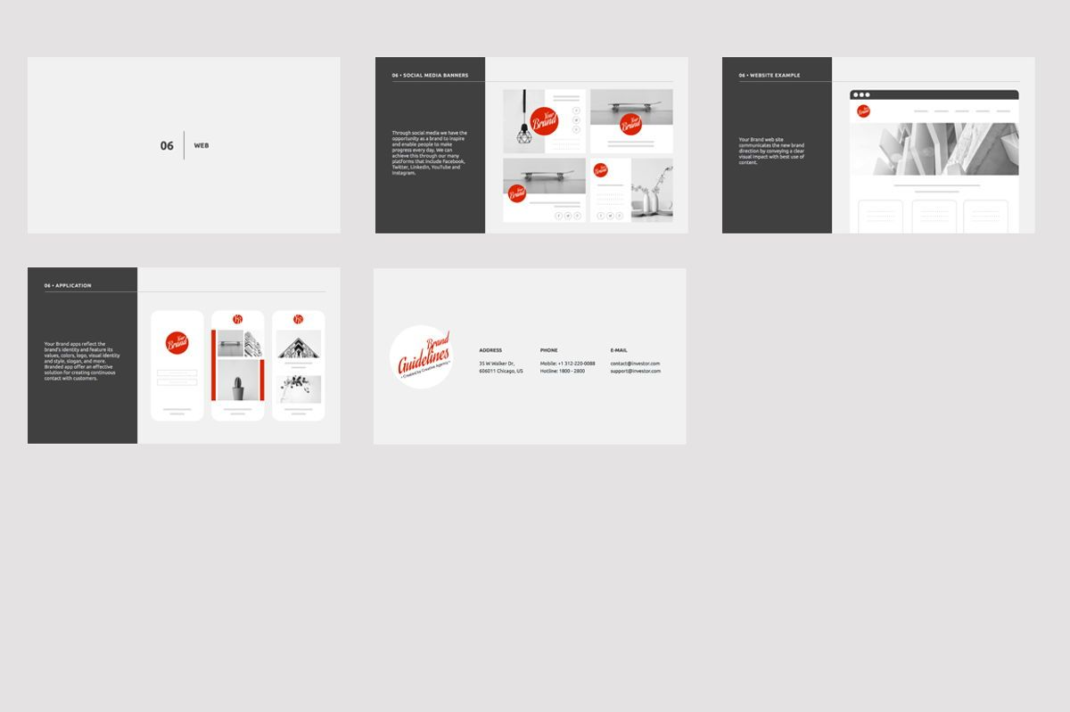 Brand Guidelines Google Slides Presentation Template, Slide 5, 08783, Business — PoweredTemplate.com