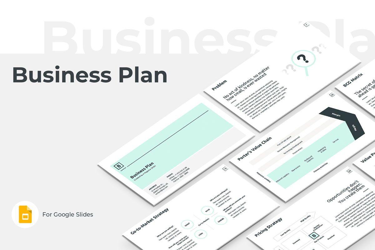 Business Plan Google Slides Presentation Template, 08784, Business — PoweredTemplate.com