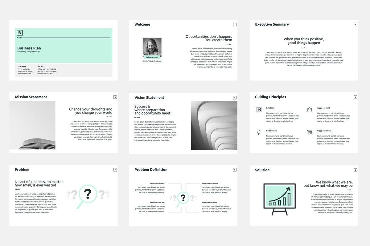 Business Plan Google Slides Presentation Template, Slide 2, 08784, Business — PoweredTemplate.com