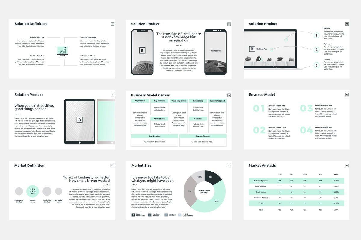 Business Plan Google Slides Presentation Template, Slide 3, 08784, Business — PoweredTemplate.com