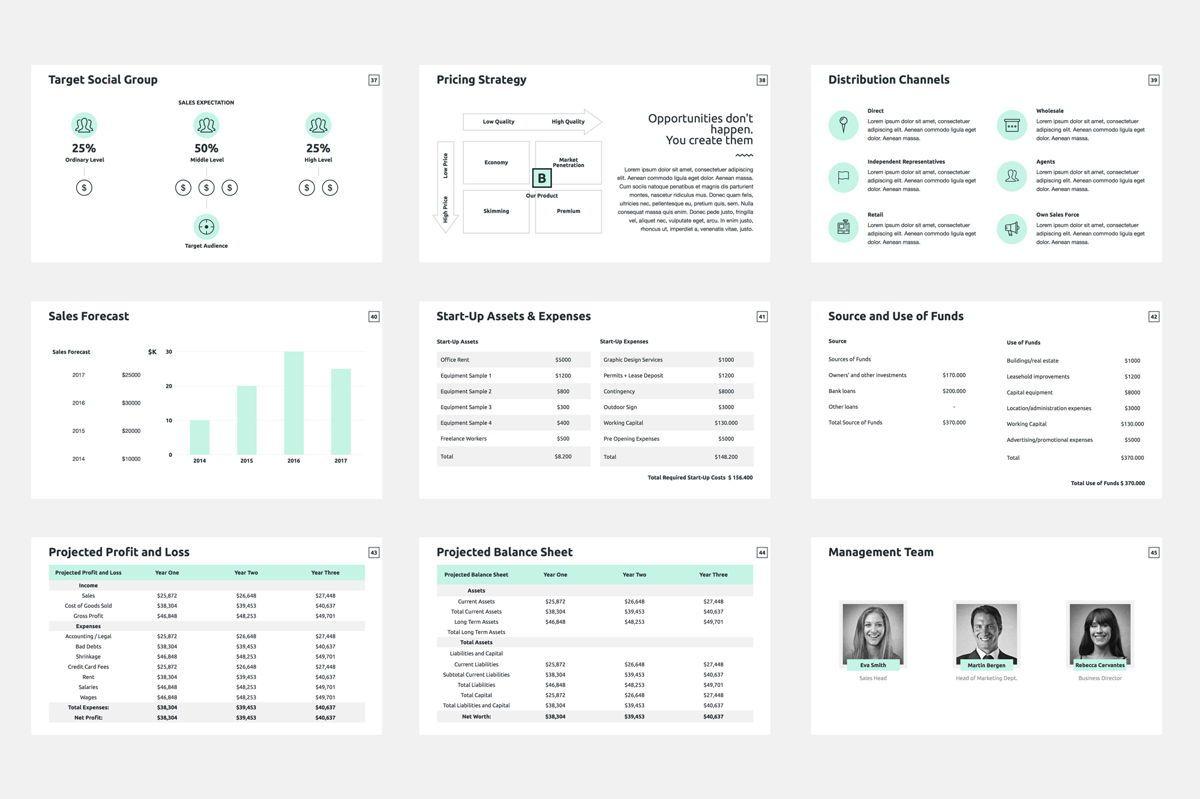 Business Plan Google Slides Presentation Template, Slide 6, 08784, Business — PoweredTemplate.com