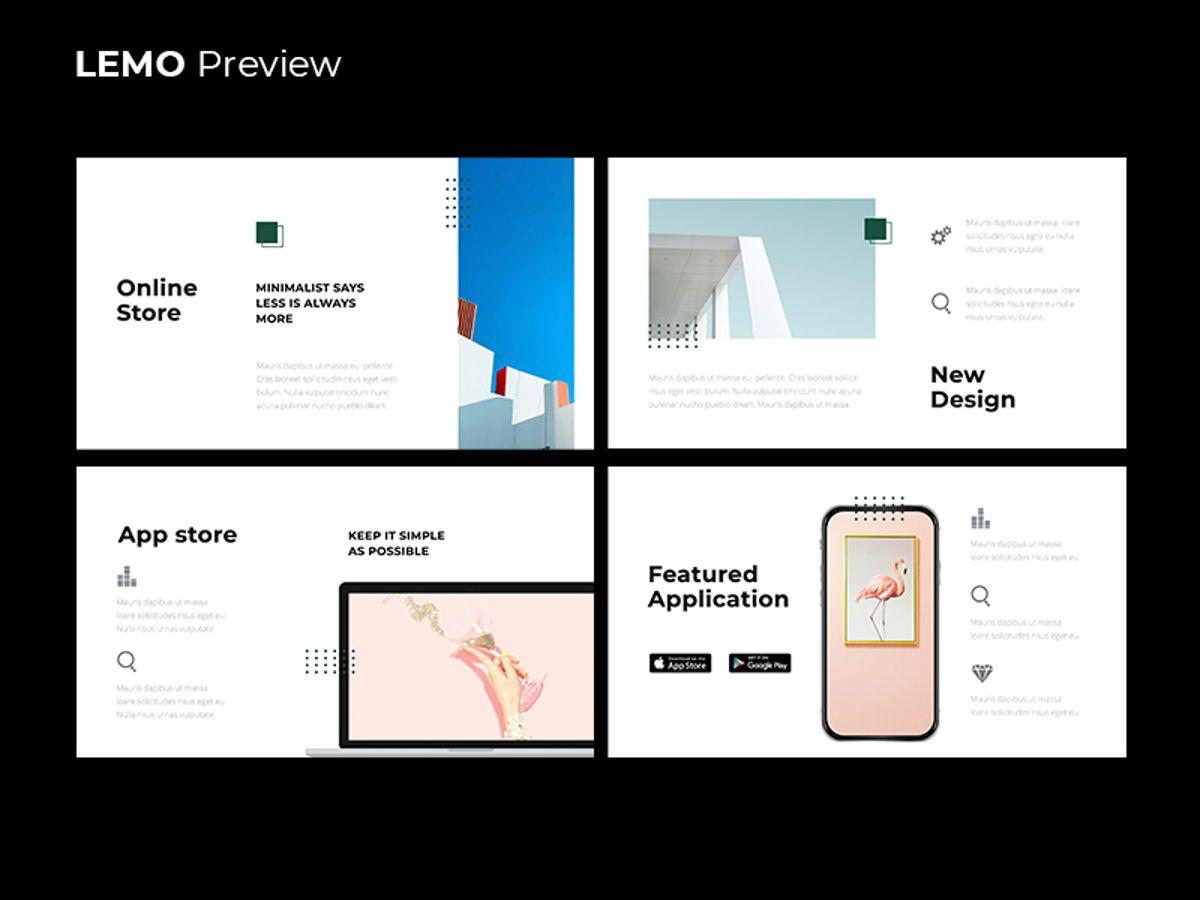 LEMO Minimal Powerpoint Template, Slide 10, 08785, Business — PoweredTemplate.com